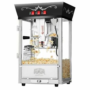 Great Northern Black Antique Countertop Style Popcorn Popper Machine, 8 Ounce