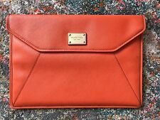 "Michael Kors Orange Leather Gold Label Sleeve Laptop Case For 13"" MacBook Air"