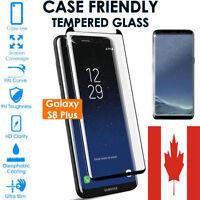 Case Friendly Samsung Galaxy S8 S9 Plus Full Cover Temper Glass Screen Protector