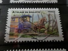 FRANCE 2013, timbre  AUTOADHESIF 820 CHEVAL ATTELAGE HORSE oblitéré, VF STAMP