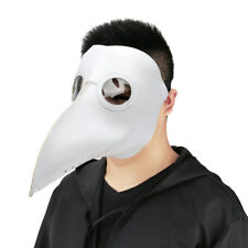 Plague Doctor Reenactment Leather Steampunk Bird Mask Gothic Cosplay Gift White