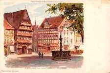 Hildesheim Germany Marktplatz Antique Postcard J69994