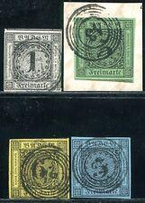BADEN 1853 5-8 gestempelt ÜBERRANDIG KLASSESATZ (A9370