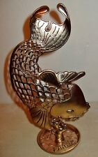 LUCKY BRAND KOI FISH Gold tone NWT Metal Jewelry Stand Holder