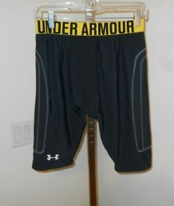 UNDER ARMOUR Soft Padded Compression Base Layer  Shorts Sz  L BLACK