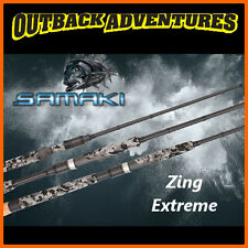 "SAMAKI ZING EXTREME 7'0"" SPIN EXTRA LIGHT 2-6LB FISHING ROD 2 PIECE SZX-702SXL"