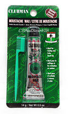 CLUBMAN PINAUD - MOUSTACHE WAX With Brush/Comb 14g/0.5oz - Pick Color