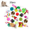 20Pcs Funny Pet Tunnel Cat Play Kitten Stick Mouse Cats Stick Ball Toys Bulk Toy