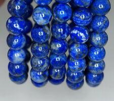 "8-9MM LAPIS LAZULI GEMSTONE BLUE ROUND 8-9MM LOOSE BEADS 7.5"""