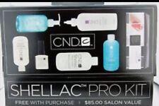 CND Shellac Pro Kit  Nail Scrubfresh, Wrap, Coolblue, Cuticle, Solaroil NEW!
