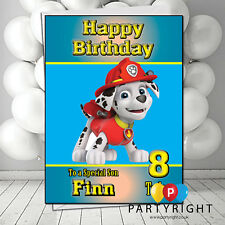 Personalised Paw Patrol Marshall Birthday Card A5 Large - Any Name Any Relation