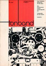 TONBAND - Zeitschrift Magazin 2 / 1965 - Audio Aufnahmen Technik - B16407