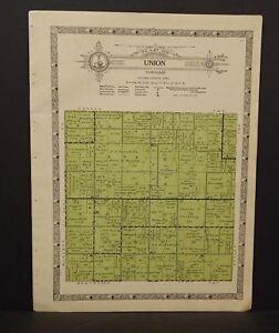 Iowa Guthrie County Map Union Township 1928   W11#05