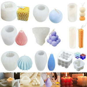 3D Candle Mould Geometric Shape DIY Wax Model Home Decor Candle Silicone Mold