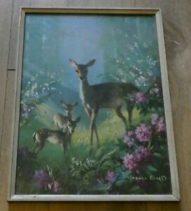 Vernon Ward: The Enchanted Glade: Vintage numbered Print: Original Frame