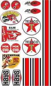 Decal Classic Modelling RC 1:18 1:24 1:14 Stickers Set Universal Texaco RC