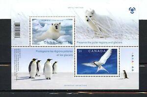 Canada MNH #2327b Souv Sheet Preserve the Poles 2009 K700
