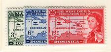 DOMINICA 1958 CARIBBEAN FEDERATION  MNH