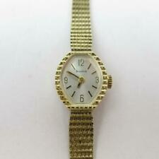 Vintage Bulova Goddess of Time Watch 10 KT Rolled Gold Plate Z63728 Velvet Box