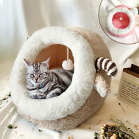 Pet Tent Cat Bed Cave Large Kittens Igloo Bed Removable Washable Cushioned Mat