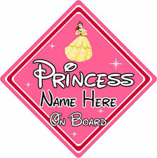 Personalised Disney Princess On Board Car Sign - Belle From Beauty & The Beast