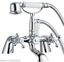 Traditionnelle Classique Pont Bain de remplissage douche mélangeur robinet Kit victorienne Victoria