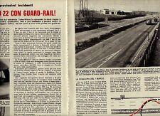 W32 Ritaglio Clipping 1971 127 km: solo 22 con guard-rail problema Milano-Torino