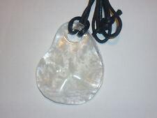 cristalloterapia PENDENTE COLLANA QUARZO IALINO lastra cristallo rocca naturale