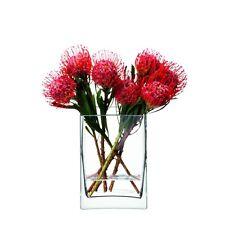 LSA Fiore Rettangolare Grappolo Vaso 22cm Vaso - Trasparente