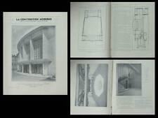 LA CONSTRUCTION MODERNE n°10 1931 LYON, THEATRE CROIX ROUSSE, MICHEL ROUX SPITZ