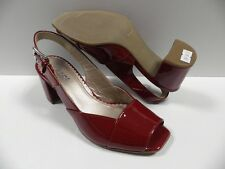 Chaussures GABOR rouge FEMME taille 35 cuir escarpins ouvert mules NEUF #760 95