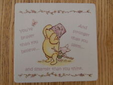 Shabby Winnie The Pooh You're Braver Than You Believe picture quote plaque/sign