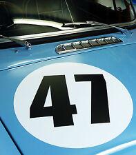 Classic Vintage Auto Corsa Rally Numero 40 cm COPPIA MG MGA MGB Triumph Aston Riley