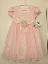 NWT Bonnie Jean 6 Girls Formal Occassion Dress Pink Tutu Wedding, Size 6
