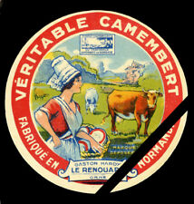 French Cheese Label: Original Vintage Camembert Le Renouard