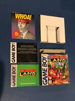 NINTENDO GAME BOY DONKEY KONG LAND ORIGINAL CASE & MANUAL, *NO GAME!*
