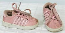 K-Swiss Baby Girls Shoes sz 5 Blush Pink Sneakers Athletic Lace up Potpourri