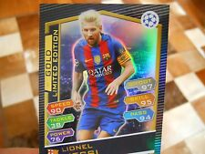 2016-17 Topps Soccer Match Attax Lionel Messi Gold Limited UEFA Champions League