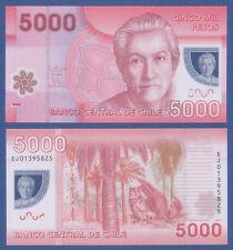 CHILE 5000 Pesos 2013 Polymer  UNC  P.163 c