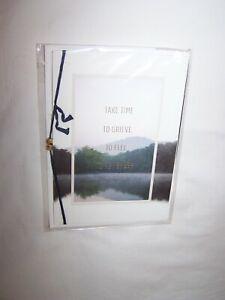 Hallmark Signature Sympathy Greeting Card & Envelope; Take Time to Grieve