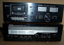 Rotel RX-304 AM/FM Stereo Receiver RX-18F Cassette Player Vintage Black Face Set