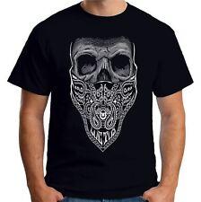 Velocitee Mens T-Shirt Bandit Bandana Skull Cowboy Gangster A21615