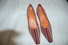 Parlanti Multi-color Satin Heels Shoes Pumps Size 39 Made in Italy