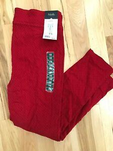 NWT RAFAELLA Women's Ruby Red Comfort Slim Leg Pants Sz 18