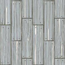 Graham and Brown Planking Grey Wood Panel Wallpaper Paste the Wall 50-593