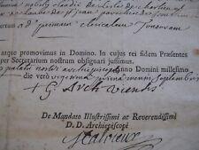 GUILLAUME D'HUGUES DE LA MOTTE Autographe Signé 1767 ARCHEVEQUE VIENNE NEVERS