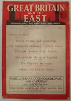 Great Britain And The East England Weekly Review WW2 World War II 1939 Newspaper