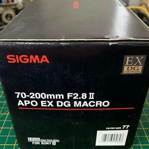 SIGMA APO 70-200mm F2.8 II EX DG MACRO HSM for Sony Minolta A Mount