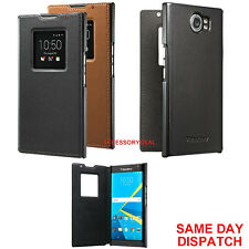 Genuine BlackBerry LEATHER FLIP CASE PRIV mobile book cover cell phone wallet
