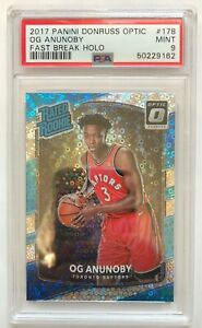 OG Anunoby RC - Fast Break Holo #178 - 2017 Panini Donruss Optic - PSA 9 MINT